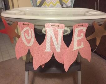 "Mermaid ""ONE"" Birthday / Highchair Banner"
