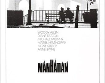 MANHATTAN Movie Poster Woody Allen Diane Keaton Muriel Hemmingway Drama