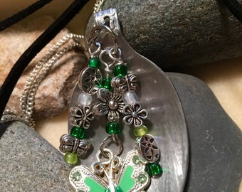 Green Butterfly Necklace Special Order Only