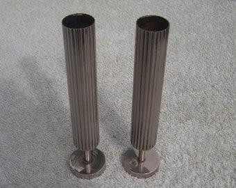 Stem Vases - Silver Plated - Vintage Silverplate