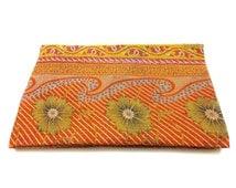 Handmade  Kantha Quilt Indian Cotton Bedspread Bedding ,throw