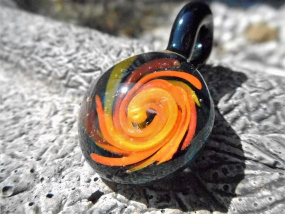 heady glass pendant heady pendant heady glass pendant with a wave design in rich - Heady Glass Pendants
