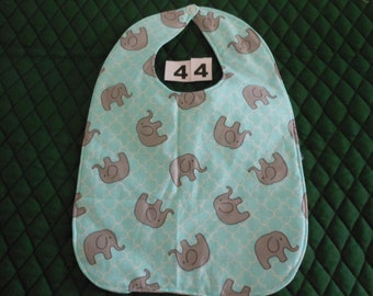 Baby Bib, Quilted, Doulbe Sided