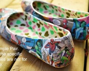 Handmade Comic Book Shoes