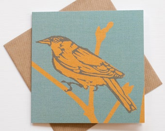 Garden Bird Note Card - Black Cap