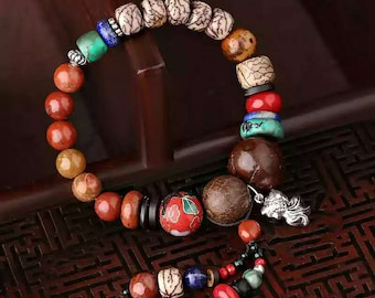 Redstone and Pipal tree seed Bracelet