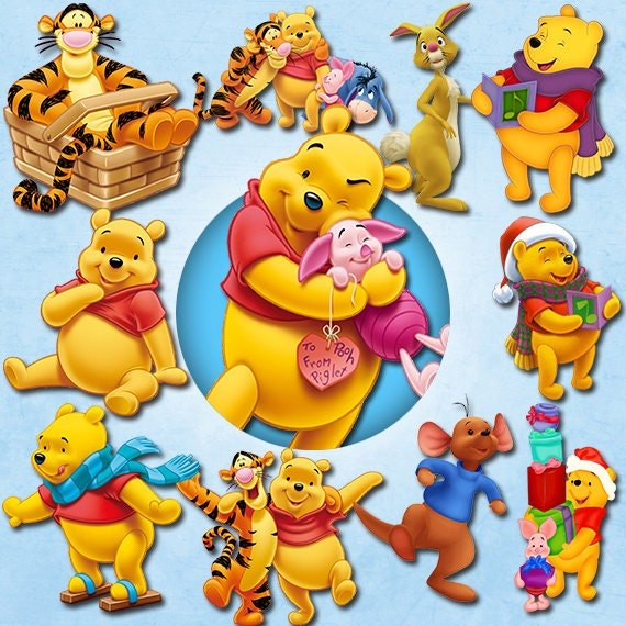 Winnie The Pooh clipart PNG 300 dpi Disney by cocoPrintShop