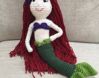 Ariel Mermaid crocheted doll