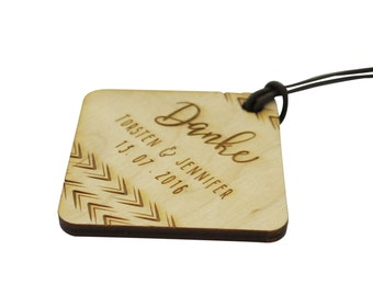 10+ Wooden Wedding Favour Tags, Custom Engraved