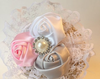 Shabby Chic Flower Headband Newborn Photography or Special Occasion!