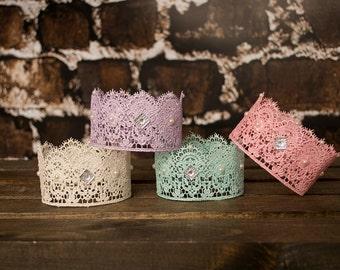 Baby Crown, Newborn Crown,Newborn Tiara, Lace Crown, Newborn Princess