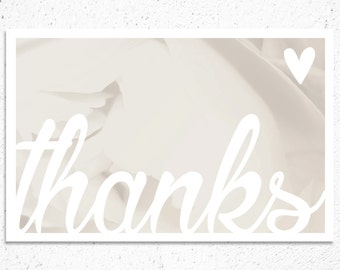 Thank You Note - Romantic Style