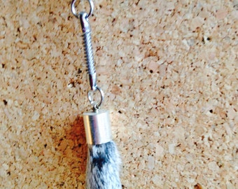 Squirrel foot key ring