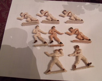 Set of 8 - 1950's Cake Toppers baseball Players