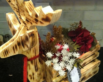 Holiday deer centerpiece