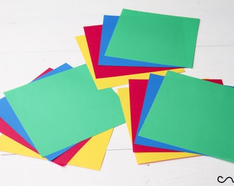 12 Origami Paper 60gsm Double Sided Coloured Craft Square Assorted Paper 15cm