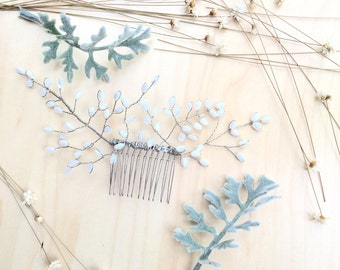 Bridal Hair Comb, Mother Of Pearl Hair Comb, Vintage Wedding Hair Comb