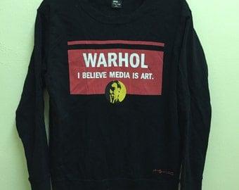Clearance Stock!!! Andy Warhol Pop Art Graffiti Sweatshirt  Spell out Hippie sz M Rare Design