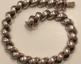 Vintage Sterling Silver 925 Bracelet ~ 19 grams