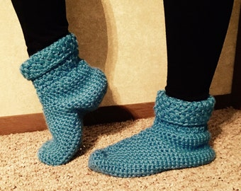 Cuffed Slipper Boots