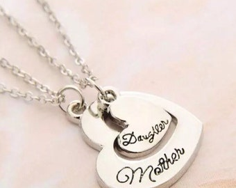 Silver Mother and Daughter Necklaces both on 18 Inch Chains