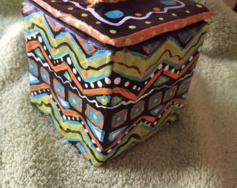 Original, hand-made, hand-painted trinket box