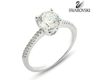Swarovski Solitaire Ring R1031WW