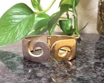 Two Tone Swirl Bracelet