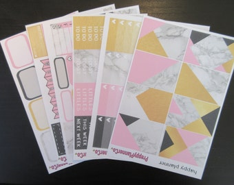 Pink & Gold Marble HAPPY PLANNER Kit