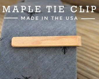 Wood Tie Clip - Wedding Tie Clips - Valentines Day Gift - Groomsmen Gift - Gifts for Men - Gifts for Husband - Gifts for him