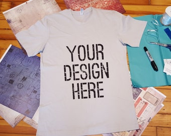 Custom Printed Tee Shirt in Adult Sizes.  Your design on a shirt!