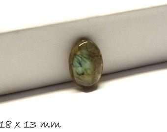 2 PCs gemstone cabochons, Labradorite, 18 x 13 mm