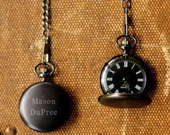 Midnight Pocket Watch - Free Personalization - GS13824