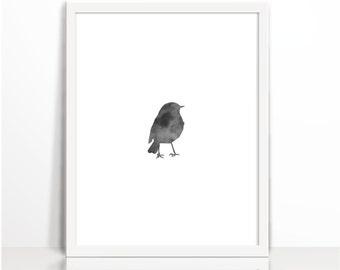 Bird Print, Nursery Animal Wall , Nursery print, Scandinavian, nursery art, Print for kids room, Newborn gift, Kids wall art, Print, Sparrow