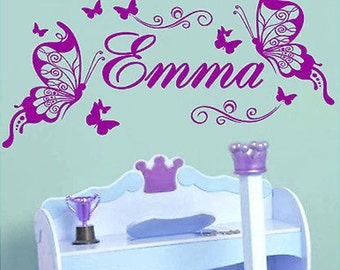 Butterfly Personalized Wall Decor