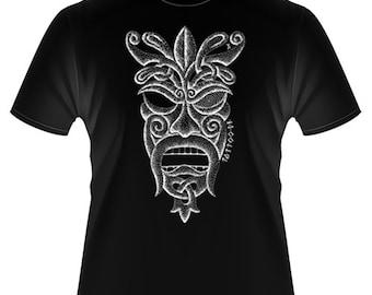Viking Pagan Norse Odin Tattoo Design T-shirt AT004-TM
