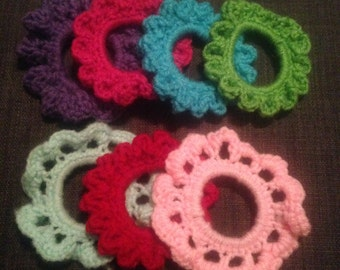 Crocheted Ponytail Holders