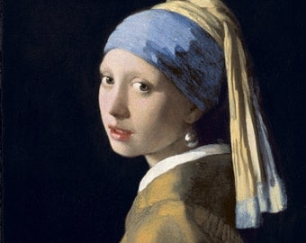 Girl with a Pearl Earring - Johannes Vermeer Giclee Canvas Rolled Print