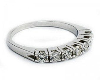 Ring in white gold with diamonds 7pts.-0. 65ct