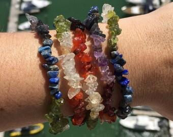 Chakra Bracelet/ Chakra Crystal Jewelry/ Reiki infused Jewelry