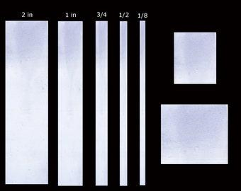 Cut to order Sterling Silver Sheet 2 in x 2 in x 22 gauge.