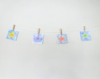 Little Stars Watercolor Set of Four