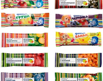 6 bars - Kids Snack, Fruit Snacks Bars, dried fruits, eco, car snack, healthy, vegan, natural sweets