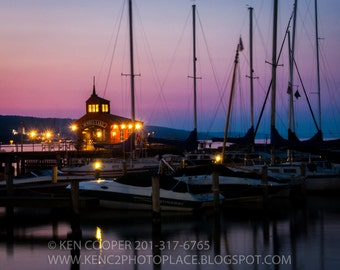 Sunset, Pastel Colors, Sail Boat, Marina, End of Day, Peaceful, Nautical