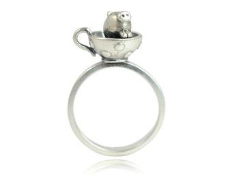 Elsie Teacup Pig Ring