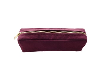 Liberty suede pouch purple