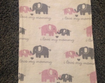 Homemade Baby Burp Cloths, Boy or Girl, Various Materials, Finished Ends