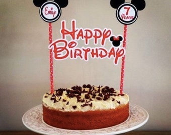 Personalized Minnie Mouse Cake Topper