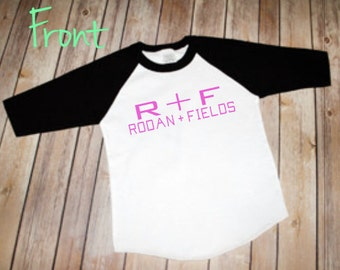R + F Raglan T shirt, Rodan AND Fields, Independent consultant, R+F advertisement, FREE shipping