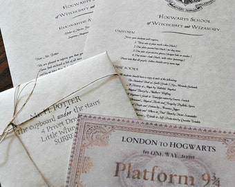 Traditional Hogwarts acceptance letter